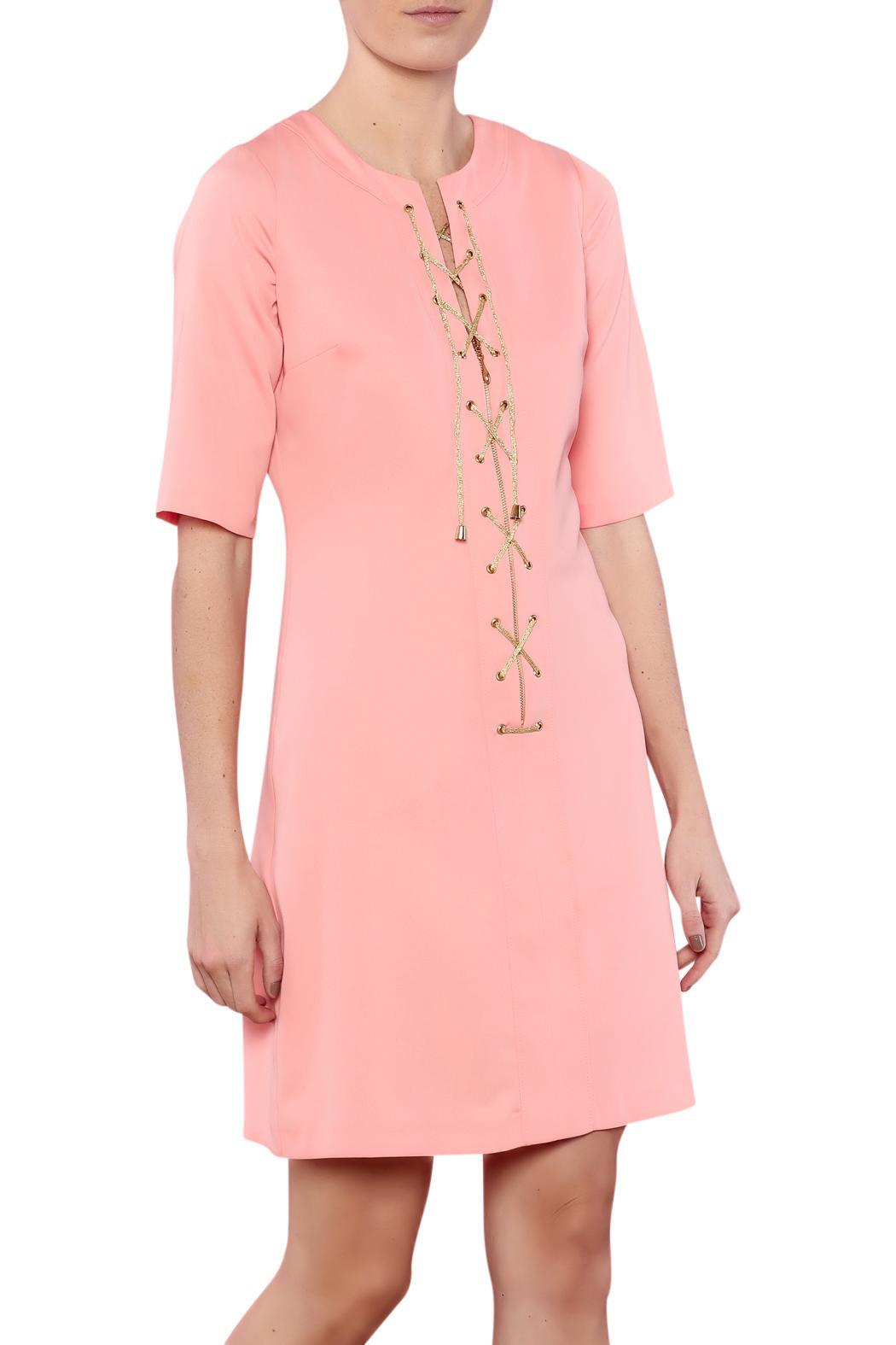 CALORE Lace Up Dress - Main Image