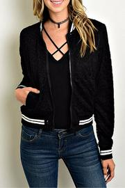 CALS Black Lace Bomber - Product Mini Image