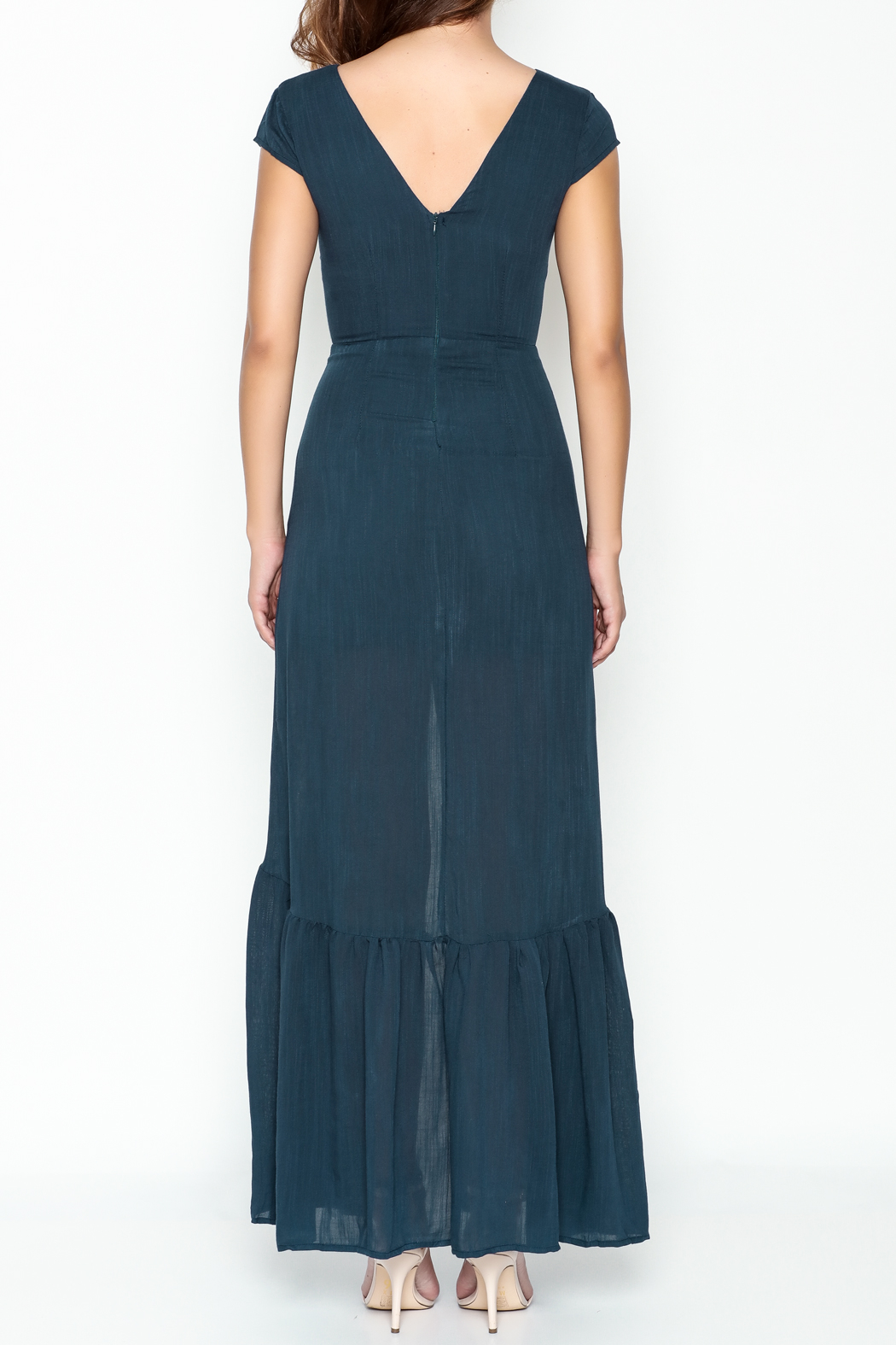 CALS Button Down Maxi Dress - Back Cropped Image