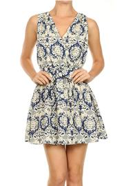 CALS Damask Floral Mini Dress - Product Mini Image