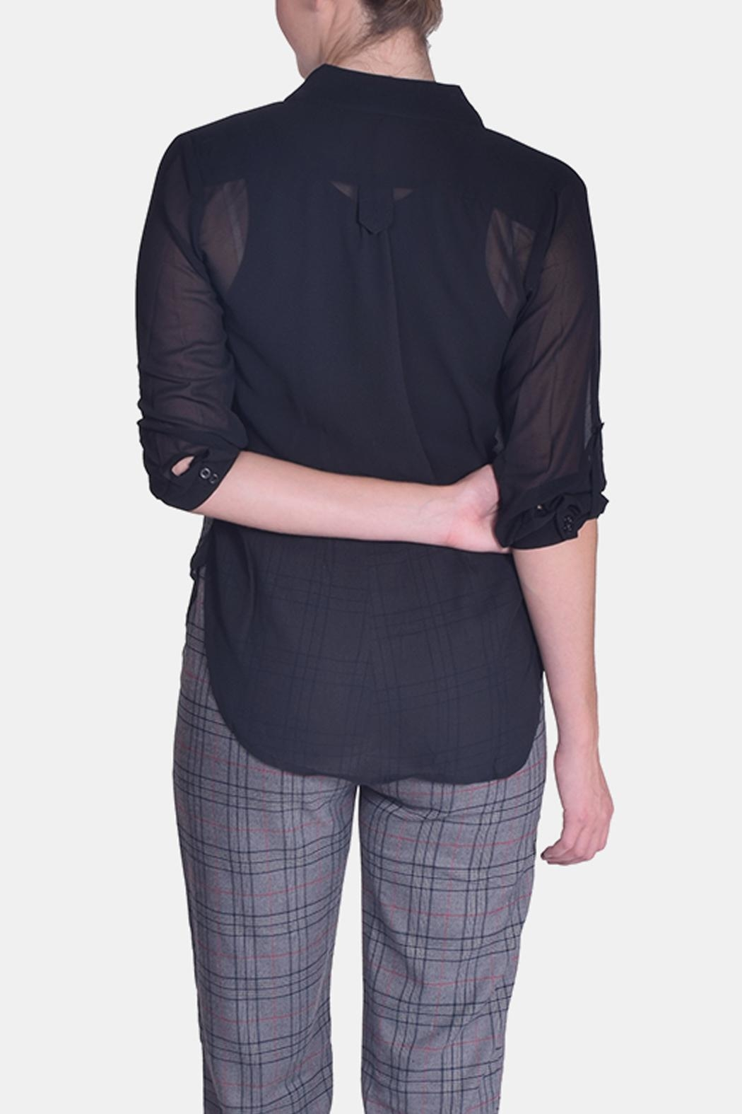 CALS Everyday Sheer Blouse - Side Cropped Image