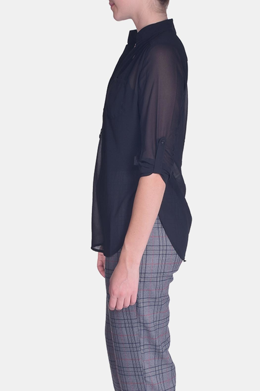 CALS Everyday Sheer Blouse - Back Cropped Image