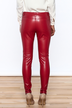 CALS Red Faux Leather Pants - Alternate List Image