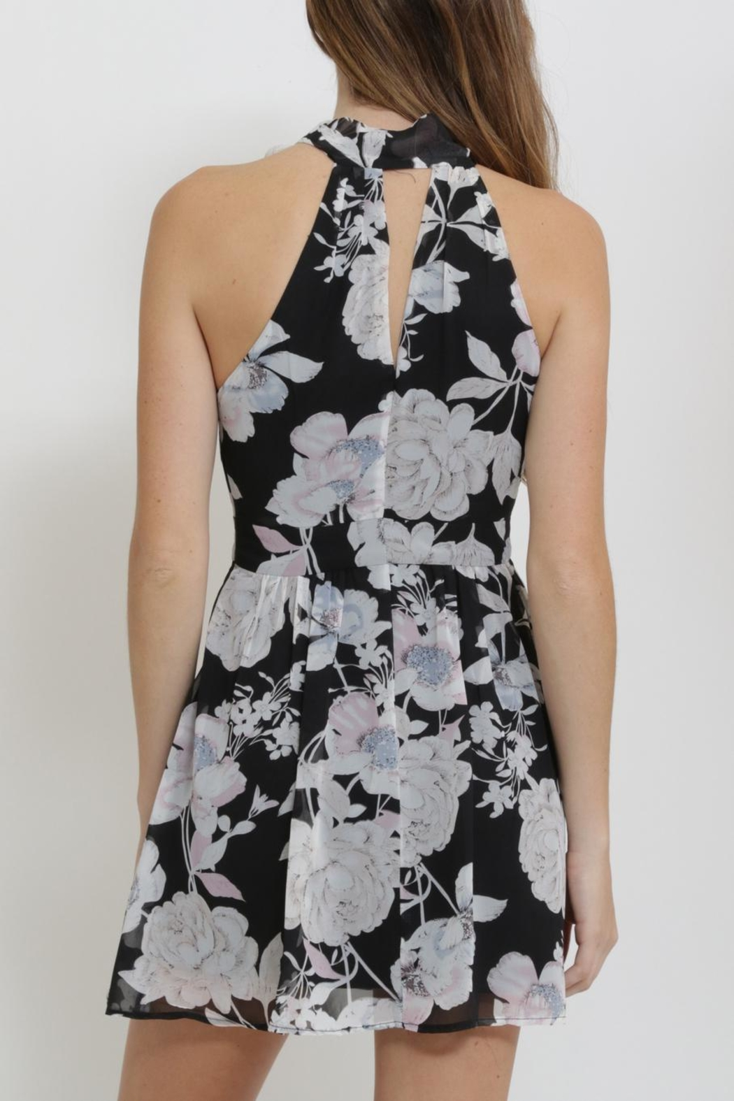 CALS Floral Chiffon Dress - Side Cropped Image