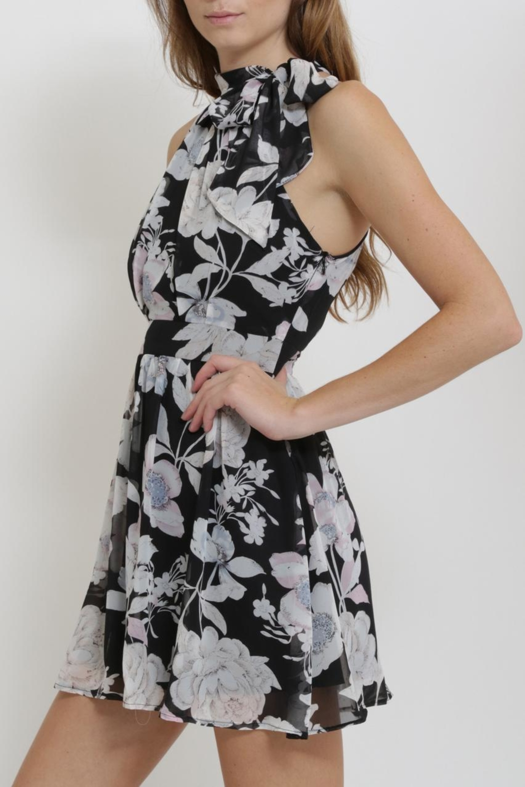 CALS Floral Chiffon Dress - Front Full Image