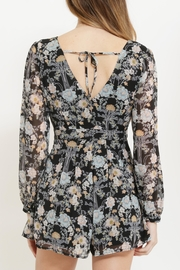 CALS Floral Chiffon Romper - Back cropped