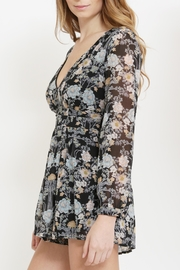 CALS Floral Chiffon Romper - Side cropped