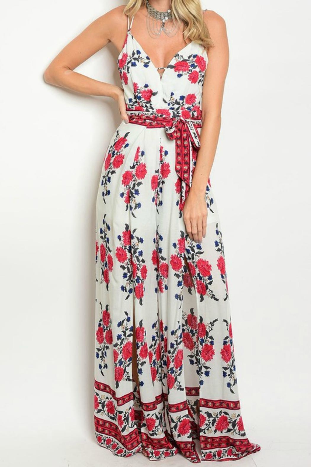 CALS Floral Jumpsuit - Front Cropped Image