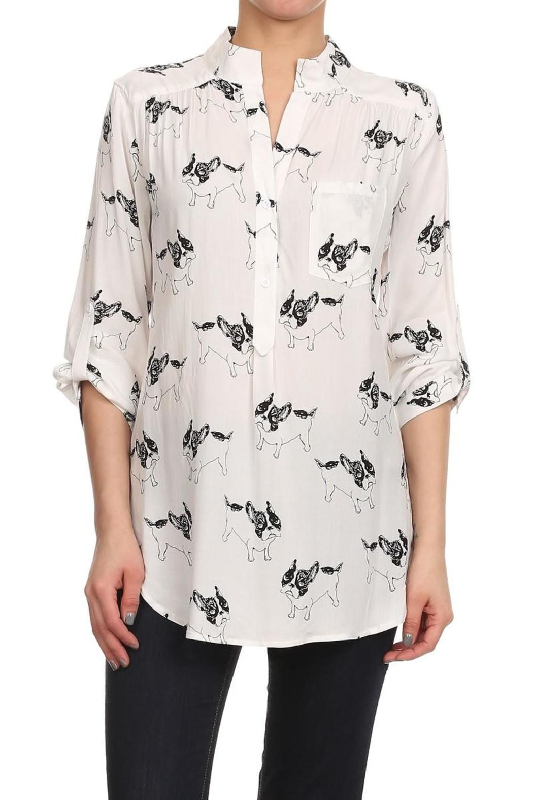 Cals French Bulldog Blouse From Los Angeles By Goldie S