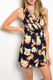 CALS Navy Tropical Dress - Front cropped