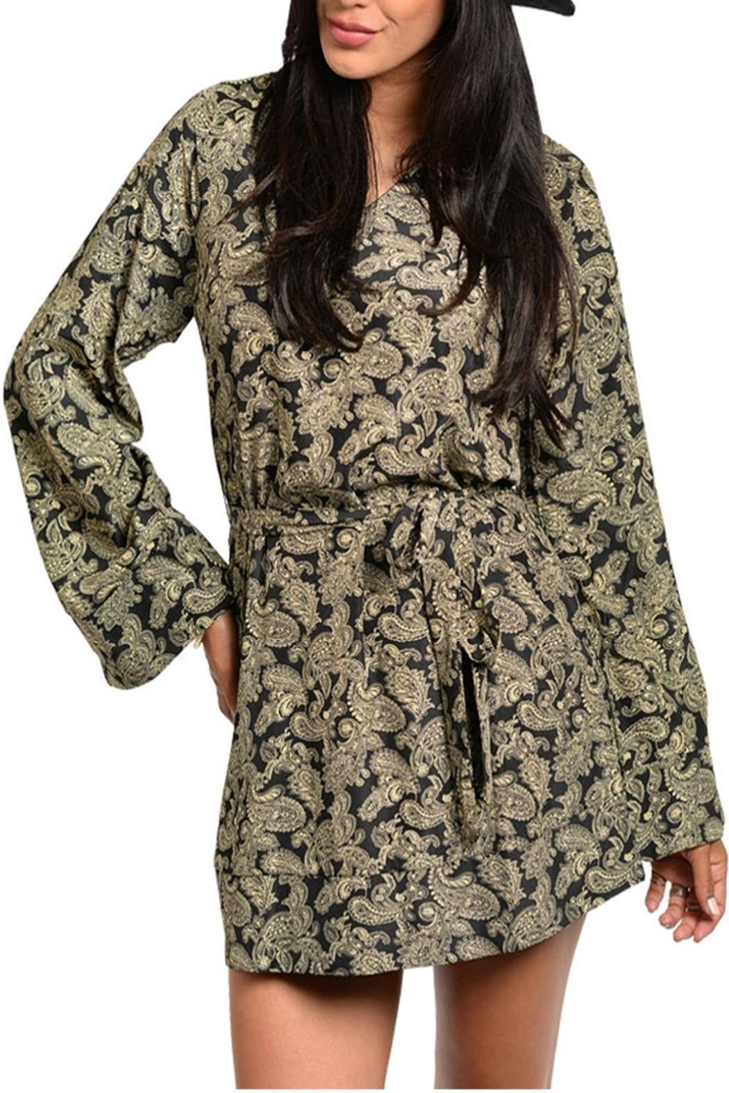 CALS Bell Print Dress - Front Cropped Image