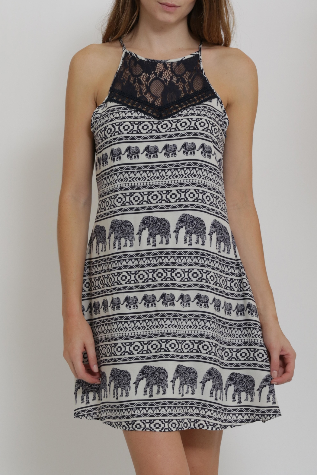 CALS Printed Easy Dress - Front Full Image