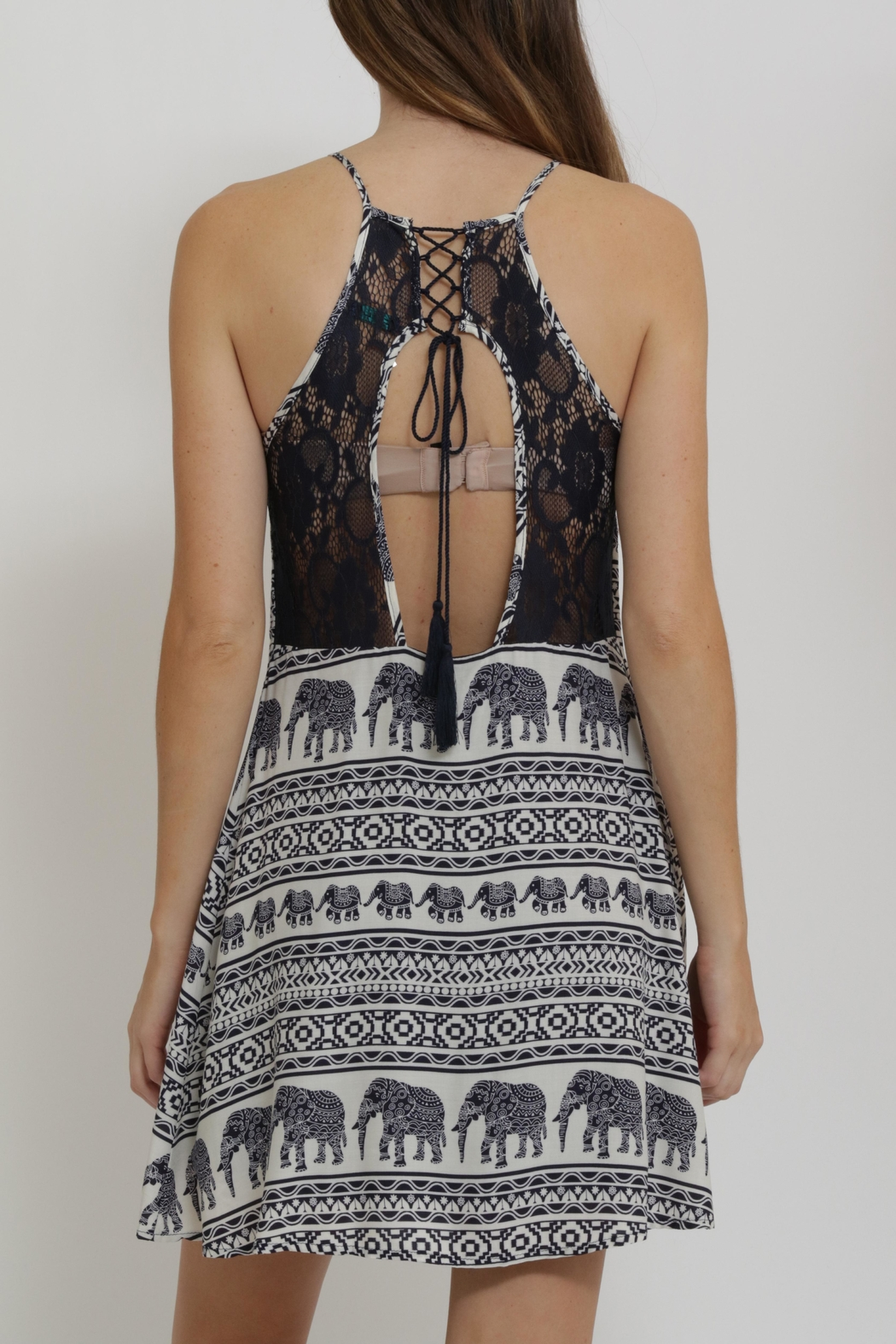 CALS Printed Easy Dress - Back Cropped Image