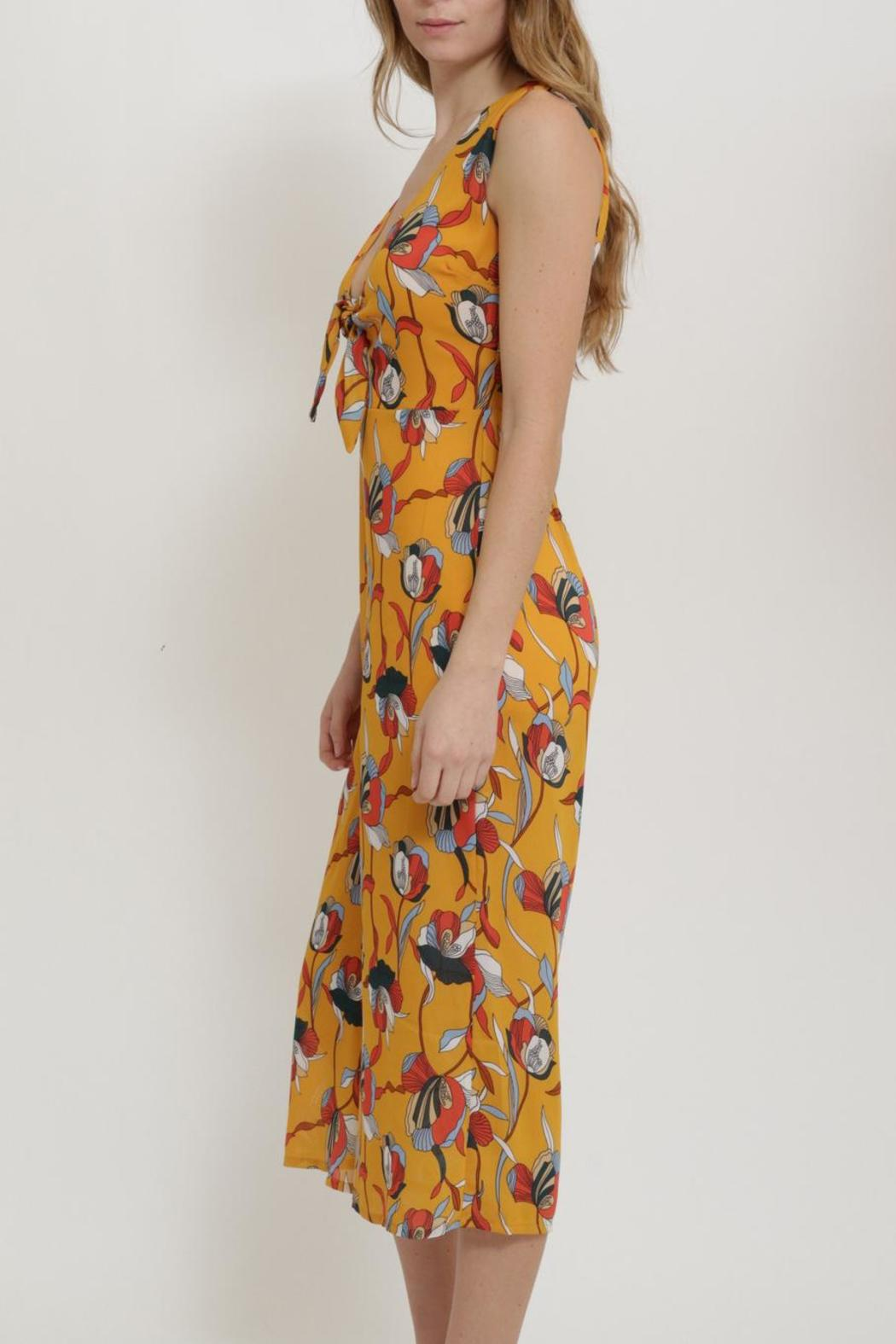 CALS Retro Front Tie Jumpsuit - Side Cropped Image