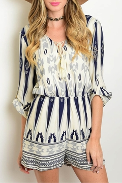 CALS Tribal Printed Romper - Product List Image