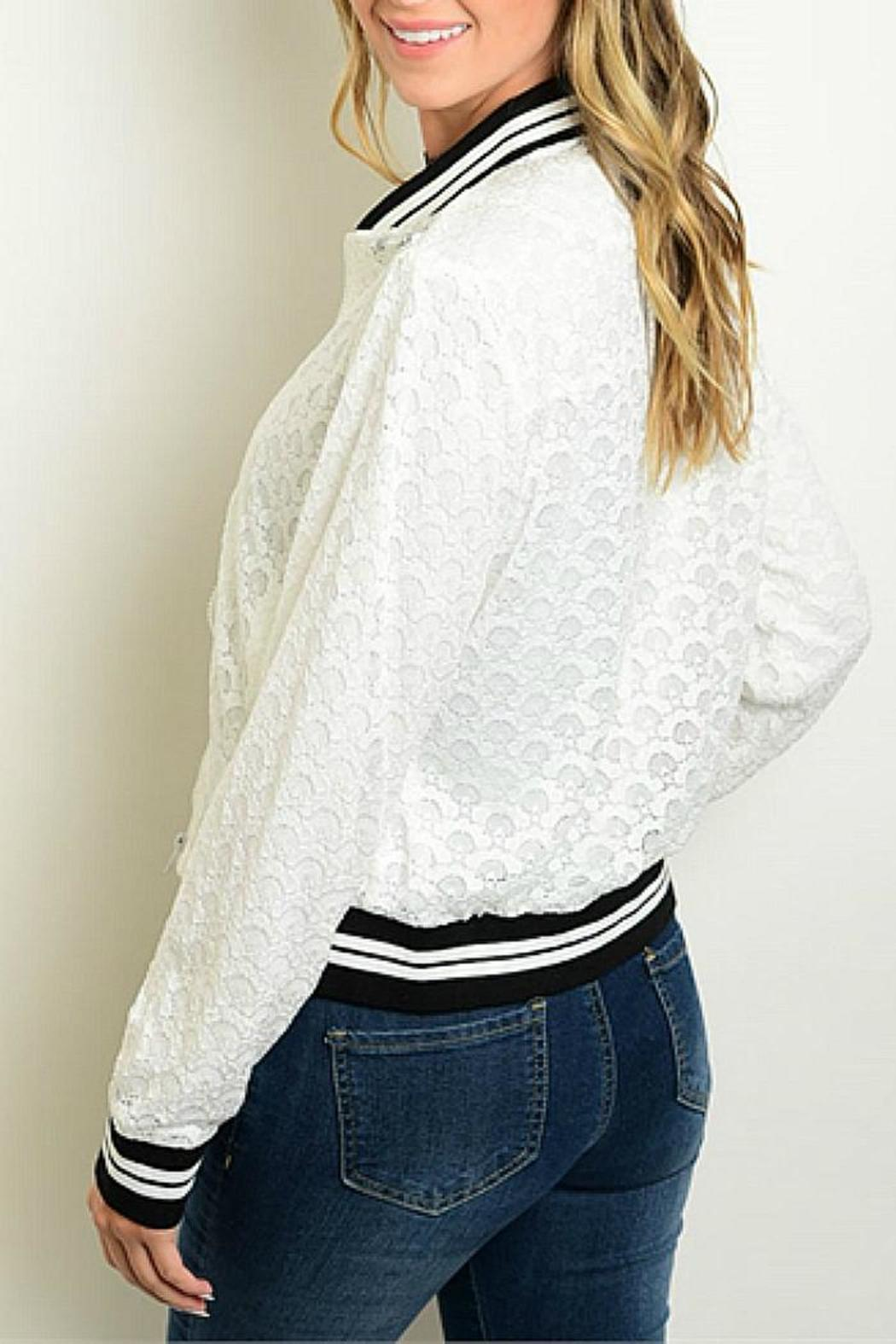 CALS White Lace Bomber - Front Full Image