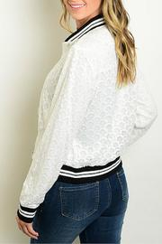 CALS White Lace Bomber - Front full body