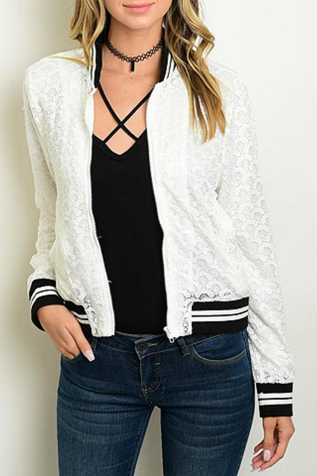 CALS White Lace Bomber - Main Image