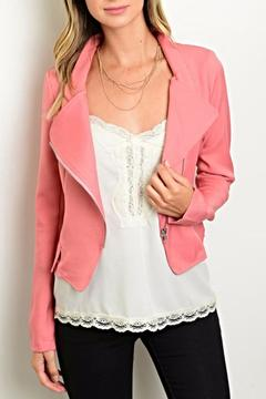 Cals Collection Salmon Moto Blazer - Product List Image