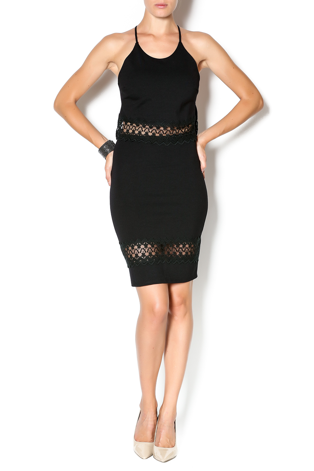 calvin rean lace trim pencil skirt from fairfield by