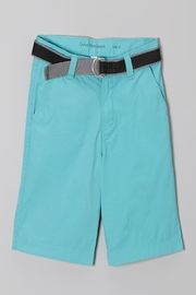 Calvin Klein Jeans Boys Belted Shorts - Front cropped