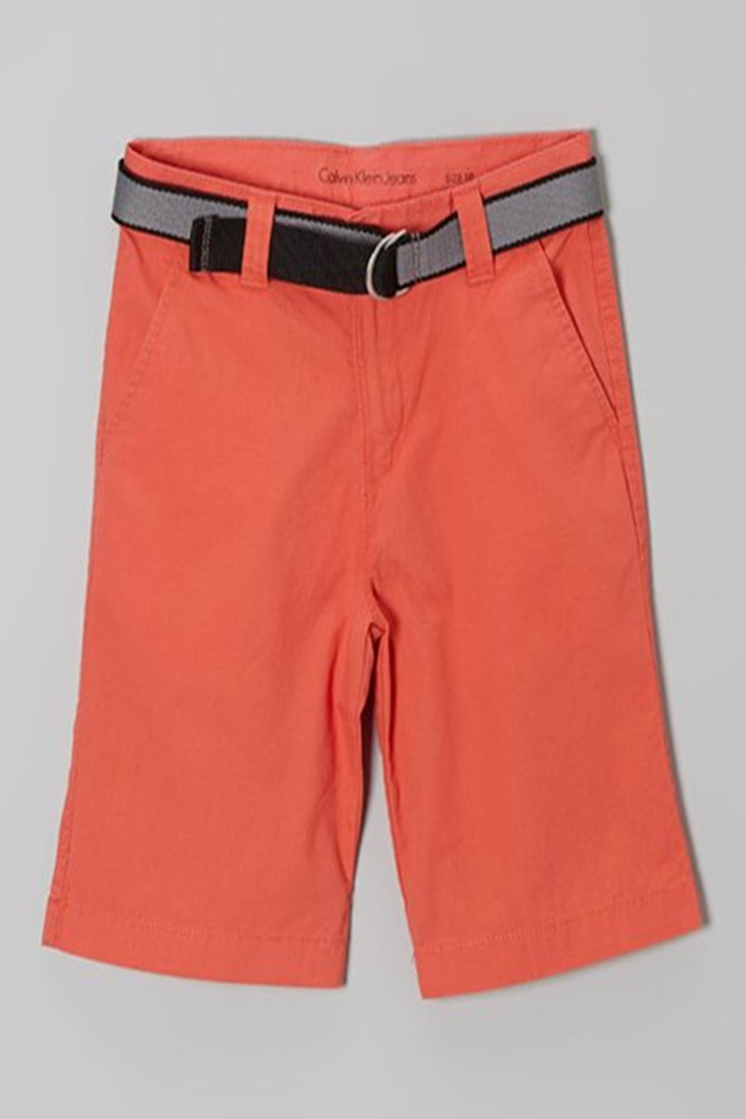 Calvin Klein Jeans Boys Belted Shorts - Front Cropped Image