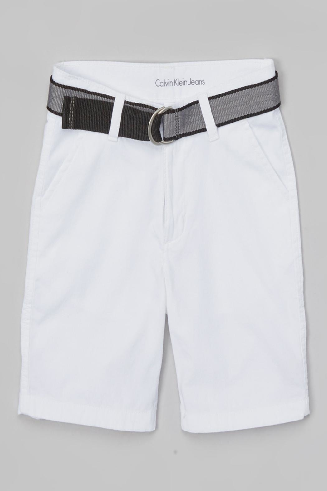 Calvin Klein Jeans Boys Belted Shorts - Main Image