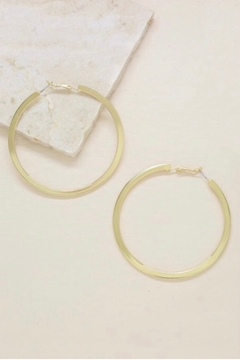 Ettika Calypso 18k Gold Plated Hoop Earrings - Gold - Product List Image