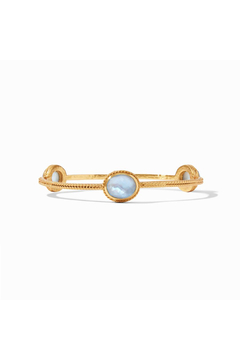 Julie Vos Calypso Bangle Gold Iridescent Chalcedony Blue-Small - Alternate List Image