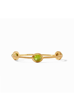 Julie Vos Calypso Bangle-Gold/Iridescent Jade Green-Small - Product List Image