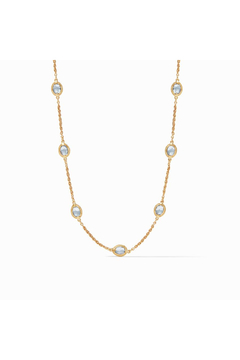 Julie Vos Calypso Demi Delicate Station Necklace-Gold/Chalcedony Blue - Alternate List Image