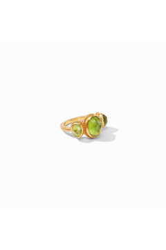Julie Vos Calypso Ring-Gold/Iridescent Jade Green - Size 7 - Product List Image