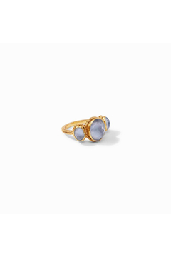 Julie Vos Calypso Ring Gold Iridescent Slate Blue Size 6 - Product List Image