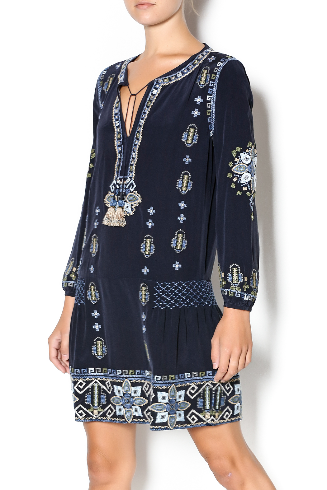 Calypso St Barth Nona Embroidered Dress From South