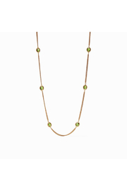 Julie Vos Calypso Station Necklace-Gold/Jade Green - Product Mini Image