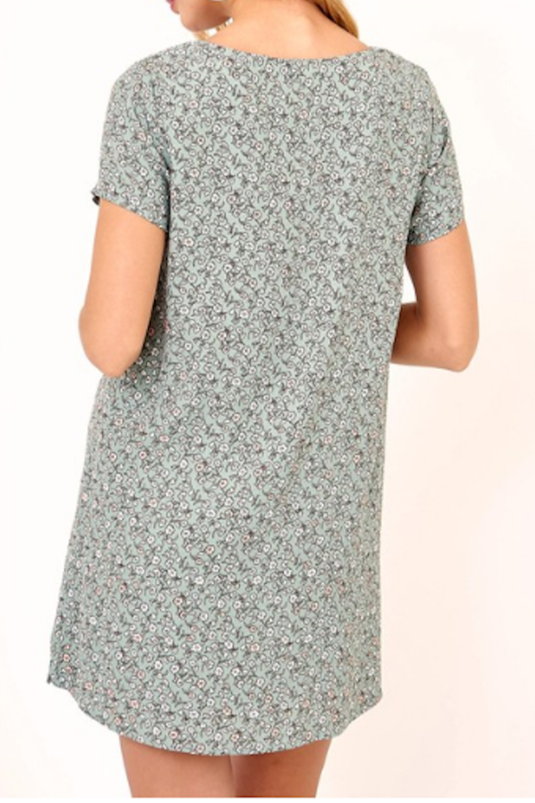 Olivaceous Cambridge Tee Dress - Front Full Image