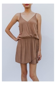Final Touch Camel Cami Romper - Product Mini Image