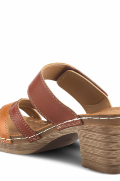 Patrizia by Spring Step Camel color slide sandal featuring a beautiful criss cross toe band - Alternate List Image