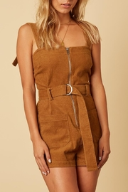 Cotton Candy LA Camel Corduroy Belted-Romper - Product Mini Image