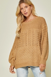 Andree by Unit Camel Crew Neck Sweater - Product Mini Image