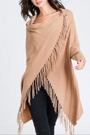 Love Tree Camel Fringe Cardigan - Product Mini Image