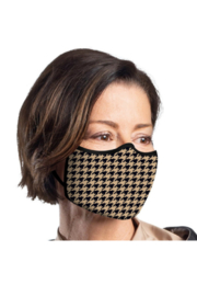 DiJore Camel Houndstooth Face Mask - Product Mini Image