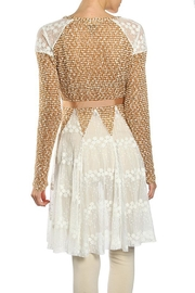 The Vintage Valet Camel Lace Cardigan - Front full body