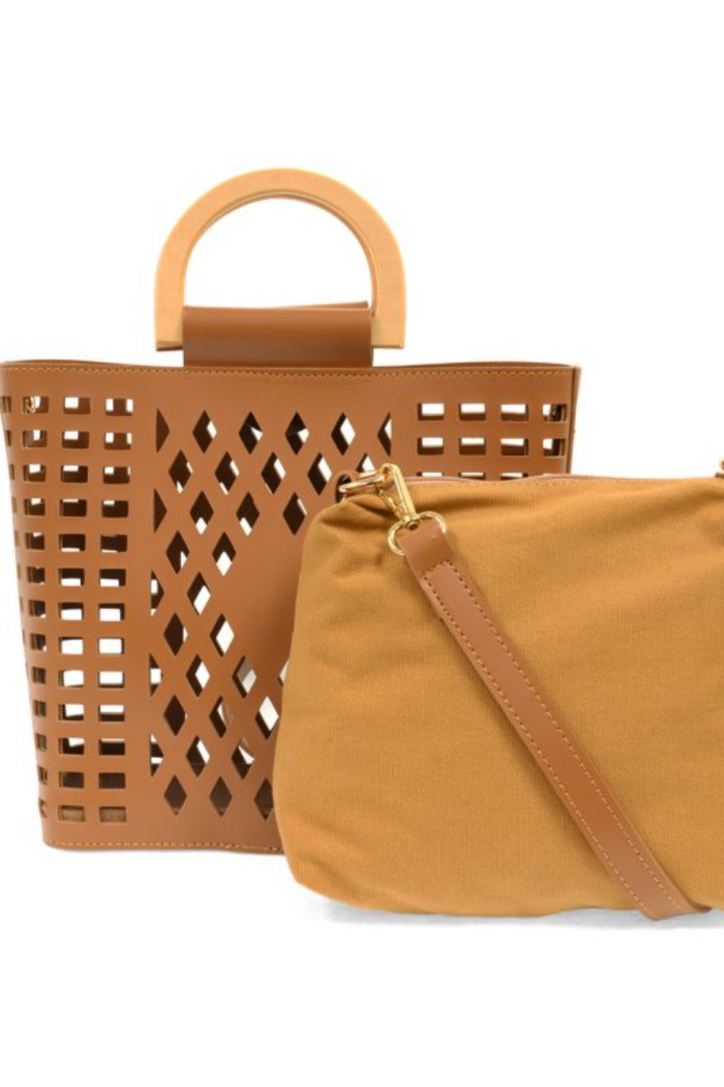 Joy Susan  Camel Madison Cut Out Tote - Front Full Image