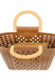 Joy Susan  Camel Madison Cut Out Tote - Side cropped