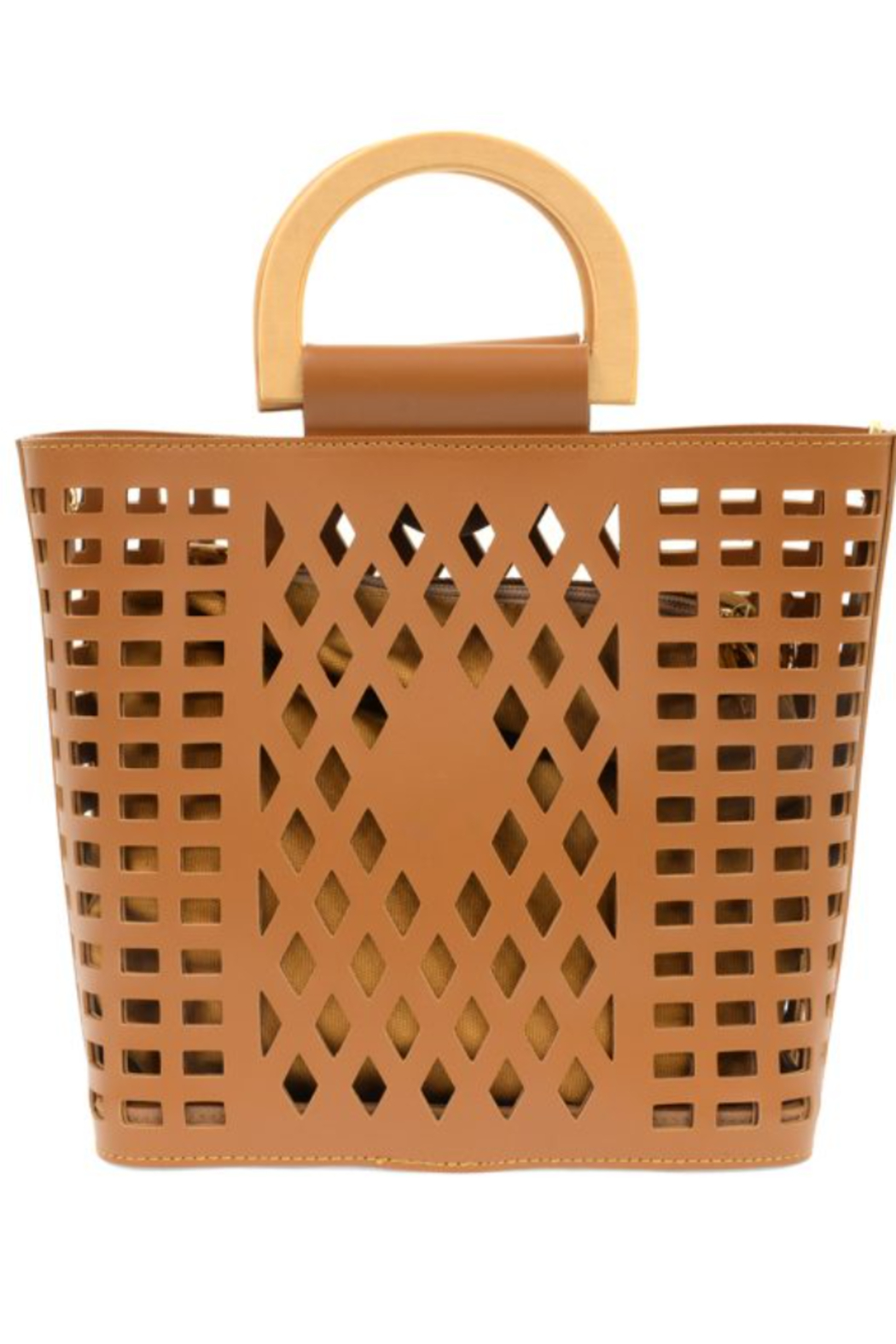 Joy Susan  Camel Madison Cut Out Tote - Front Cropped Image