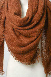 Leto Accessories Camel Marl Woven Blanket Scarf - Product Mini Image