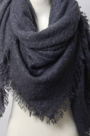 Leto Accessories Marl Woven Blanket Scarf - Product Mini Image