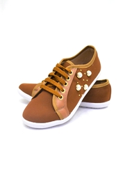 SD BOUTIQUE Camel Sneakers Shoe - Front cropped