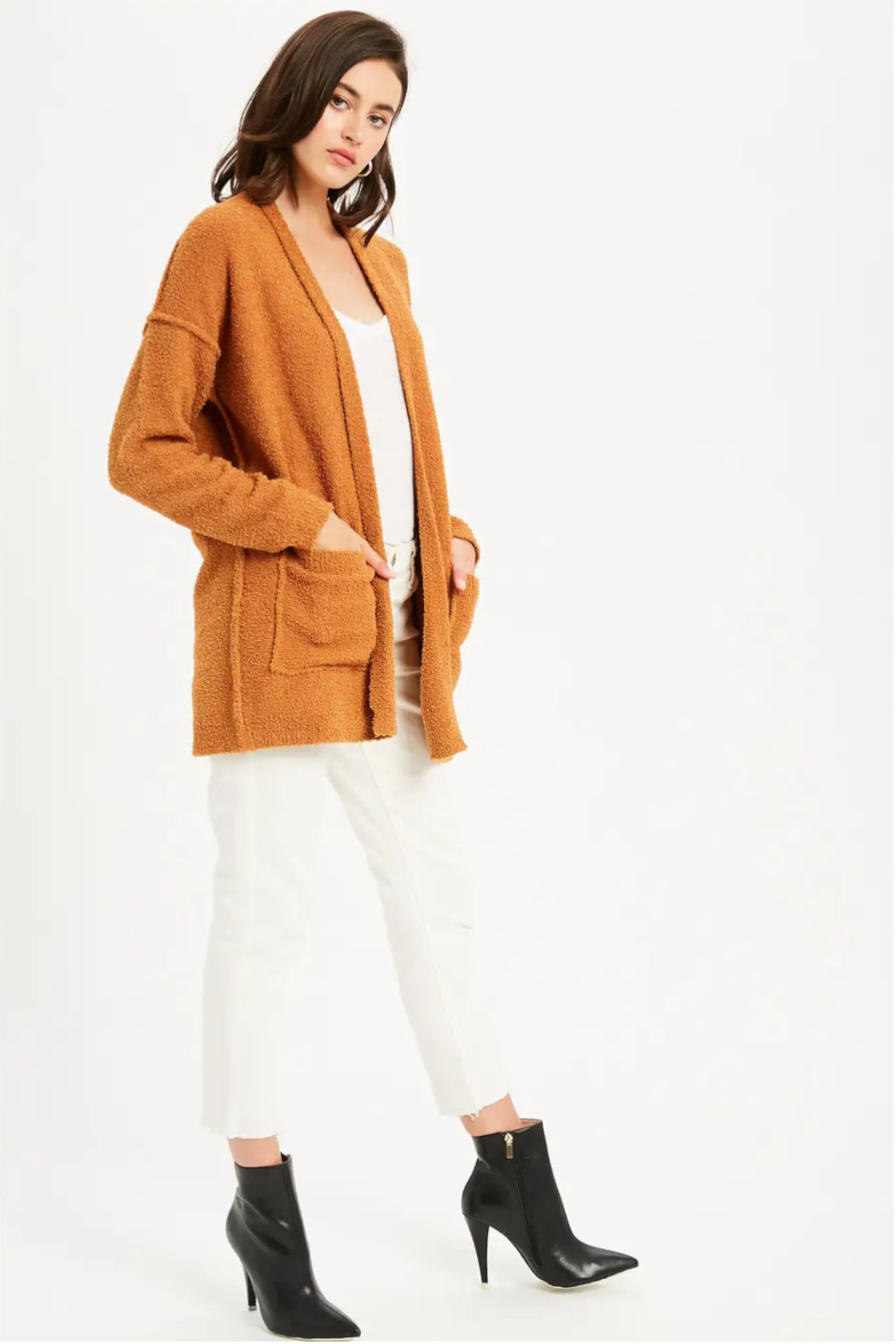 Bluivy Camel Soft Cardigan - Front Full Image